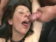 Mature Fist and Sperm Bang