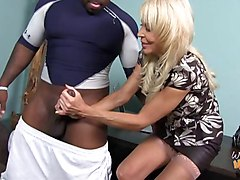 Old mom and young chick want a creampie from black guy