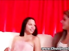 Amateur CFNM girls giggle as they measure up CFNM men