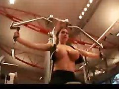 Funny Prank Topless at gym!!! Big Tits
