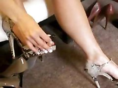 High Heels, Long Nails, Short Skirt, Great Legs, Painting Toes