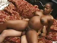 Pregnant african streetgirl fucked by white guy