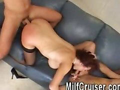 Sexy Vanessa - Red Head Milf fucked by two guys