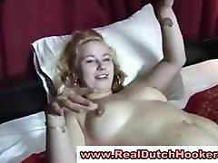 Real dutch babe has threesome for money in reality red light sex