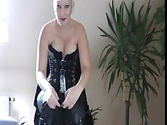 german blonde joi with strapon