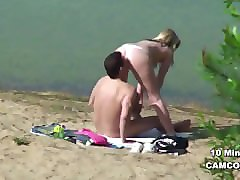 young german teen couple voyeur in sex on hamburg beach