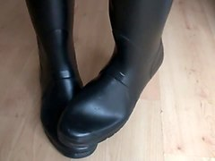 hunter boots fetish - rubber boots fetish