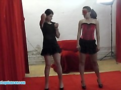 czech ladies show a double lapdance and bj