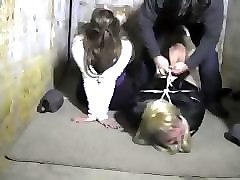 two milfs hogtied gagged
