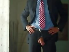 suited daddy wank