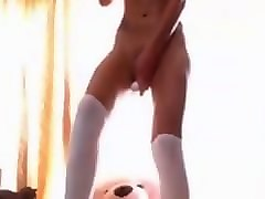 hot teen in stockings has non stop continuous multiple orgasms live
