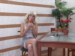 Euro Blonde Smoking And Fucking