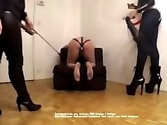 mistress mariam and mistress f hard whipping and caning their slaves part 1