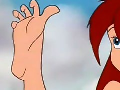 cartoon anime foot fetish tease