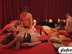 nasty couples swap partners and hot orgy in the red room
