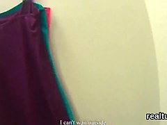 Ravishing czech kitten gets tempted in the mall and poked in pov