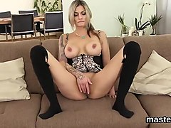 Slutty czech nympho spreads her spread twat to the unusual