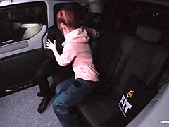 fucked in traffic - hardcore fuck in the backseat of the car with redhead czech vanessa shelby