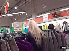 Charming czech teenie is tempted in the supermarket and screwed in pov