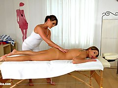 magic massage - lesbian scene with ally breelsen and lydia lust by sapphix