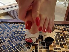 miss danielle heel - with high heels and long toenails