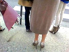 two women with nice high heels