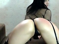 Hottest Amateur Shemale record with Stockings, Solo scenes