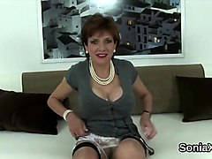 Cheating british milf lady sonia pops out her ### knockers