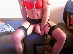 Crazy homemade gay video with Crossdressers, Masturbate scenes