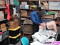 shoplifting gal moves to the backroom