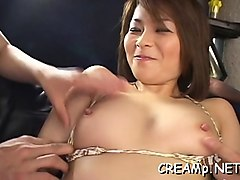 beautiful japanese babe's pussy fucked and creampie
