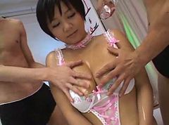 Uncensored Meguru Kosaka - Oiled Asian Fuck And Creampie