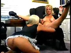 Kinky fetish lesbo maid with mistress