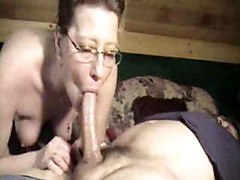 Mature Woman Deepthroating Her Young Lover