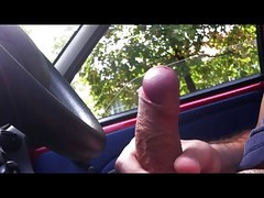 Car Flash And Cum