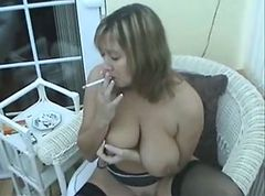 Brit milf smoking part1
