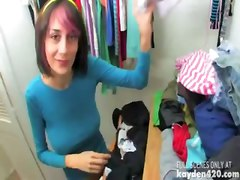 Emo Girl Masturbation In A Closet