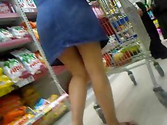 Upskirt In Supermarket Romania