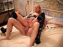 Hot Mature Blonde Banged In Boots
