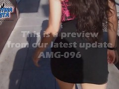 Amazing Upskirt In The Streets- Round Ass Latin Teen