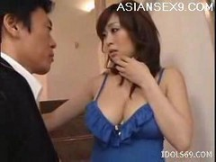 Nana Aoyama Japanese Tramp Gets Her Big Titties Washed By A Friend